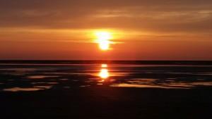 Sonnenuntergang Borkum